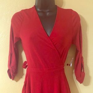 New with tags ModCloth red wrap dress
